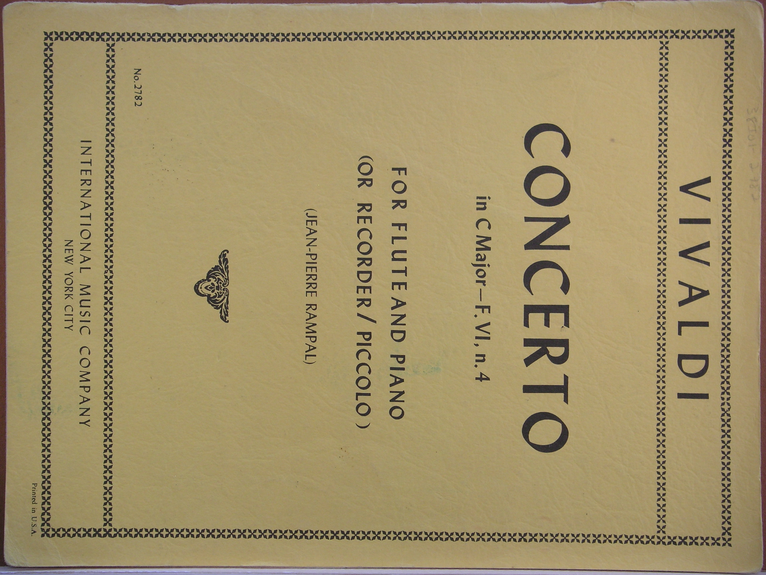 Image for Concerto in C Major-F.VI, No. 4