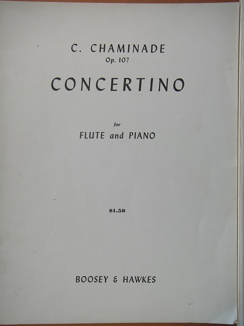 Image for Concertino for Flute and Piano Op. 107