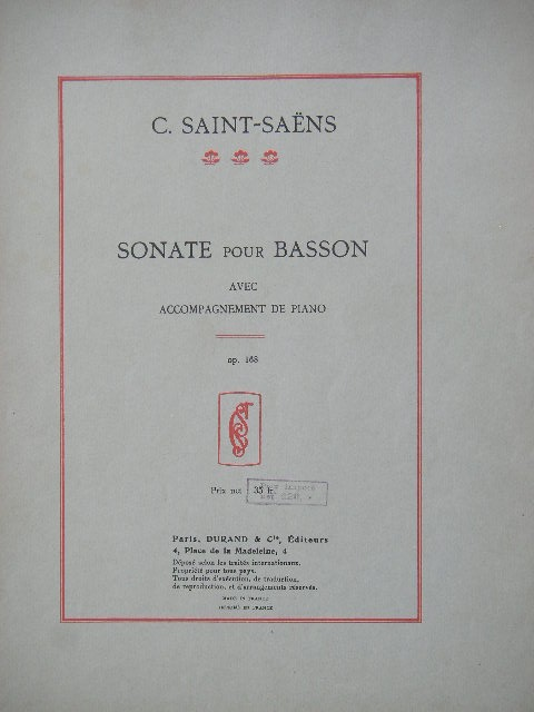 Image for Sonate Pour Basson