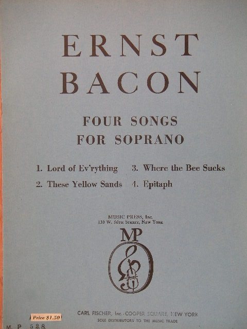 Image for Four Songs for Soprano