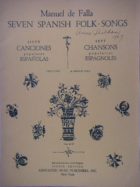 Image for Seven Spanish Folk Songs