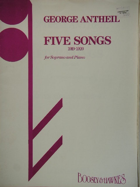 Image for Five Songs 1919-1920