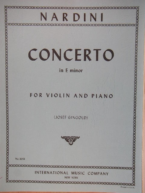 Image for Concerto in E minor