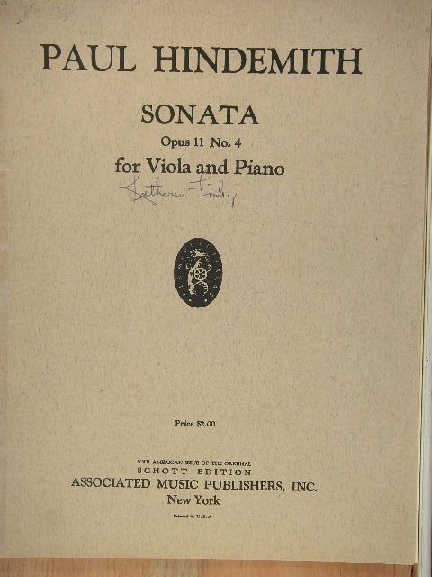 "Image for ""Sonata for Viola and Piano Op. 11, No. 4"""