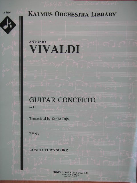 Image for Guitar Concerto in D