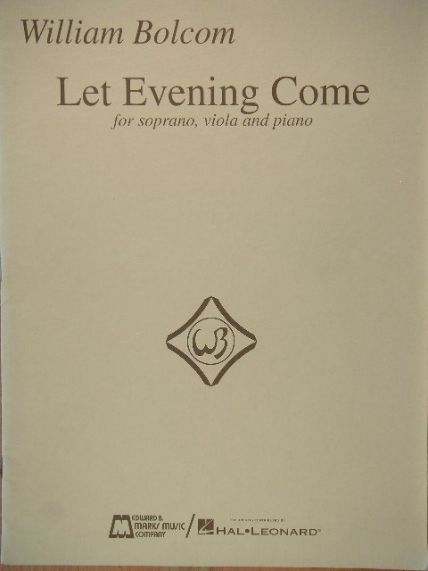 Image for Let Evening Come