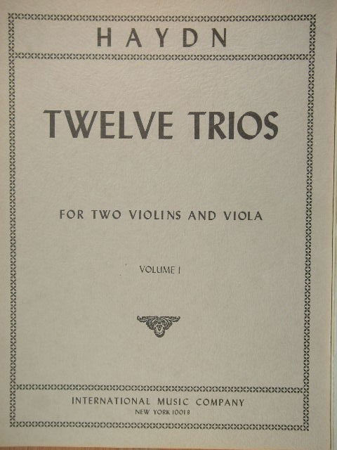 Image for Twelve Trios for Two Violins and Viola