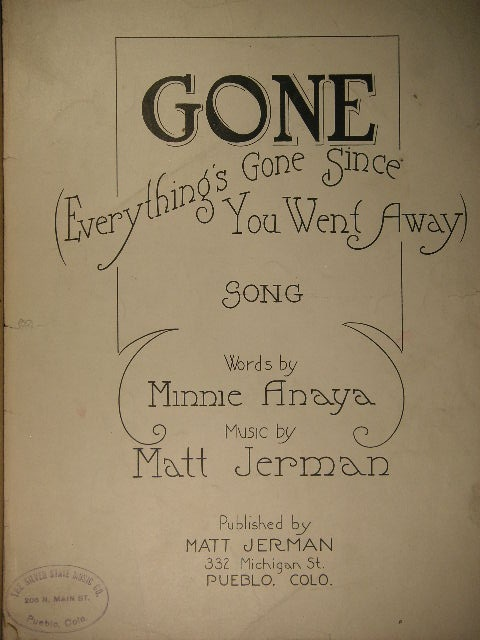 Image for Gone (Everything's Gone Since You Went Away)