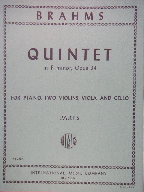 "Image for ""Quintet in F minor, Op. 34"""