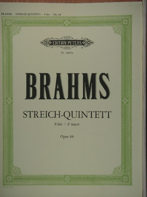 "Image for ""Streich-Quintet in F major, Op. 88"""