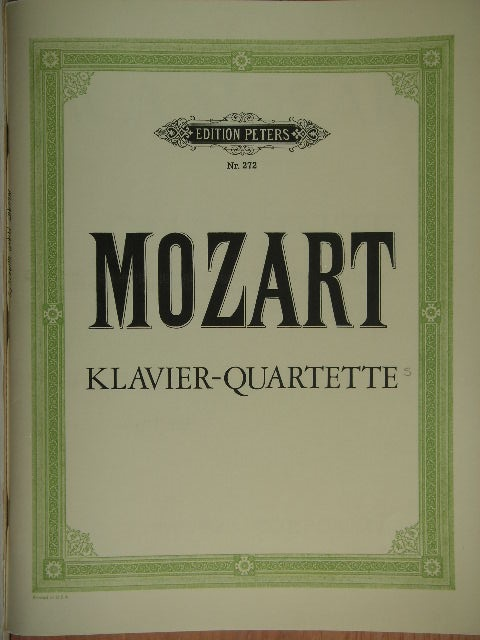 "Image for ""(Two) Piano Quartets K 478, 493"""