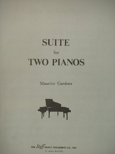 Image for Suite for Two Pianos