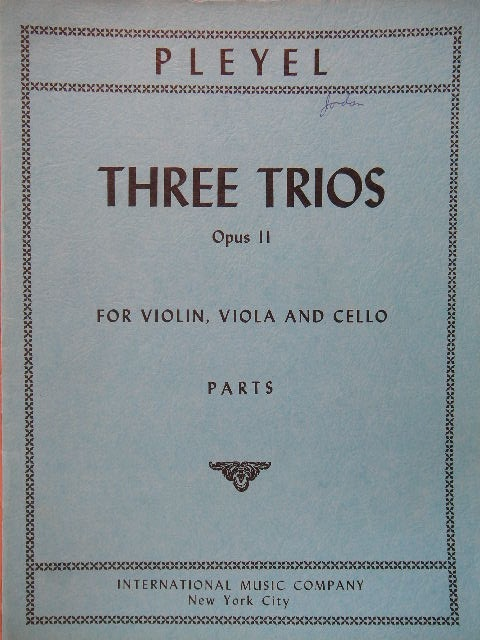 Image for Three Trios Op. 11
