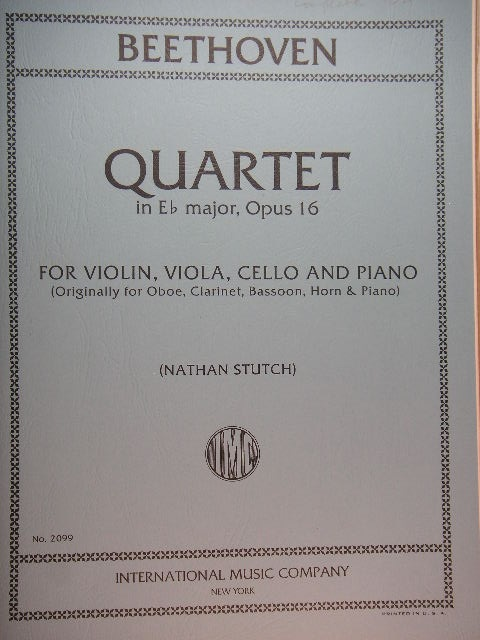 "Image for ""Quartet in Eb Major, Op. 16"""