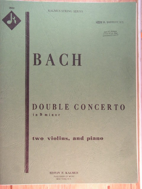 Image for Double Concerto in D Minor