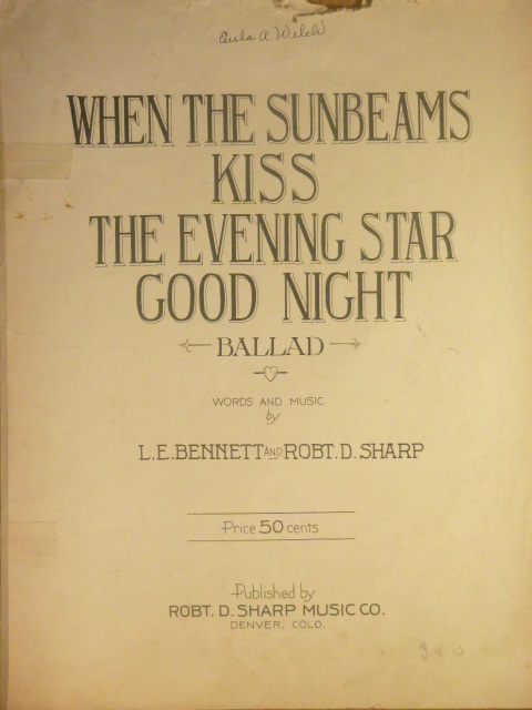 Image for When the Sunbeams Kiss the Evening Star Good Night