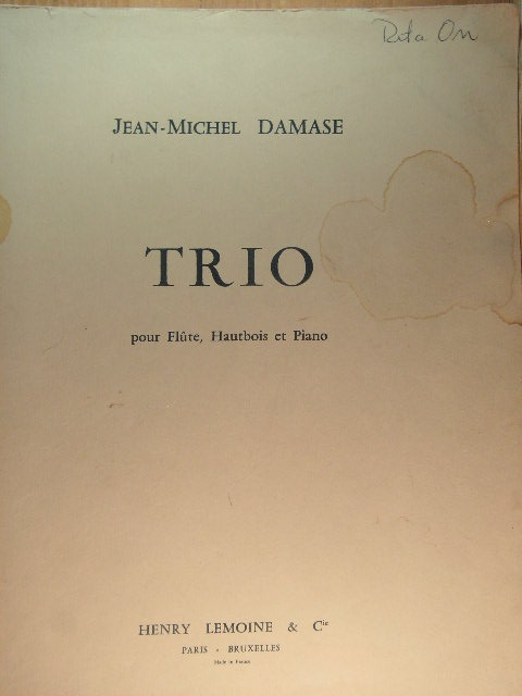 "Image for ""Trio for Flute, Oboe, and Piano"""
