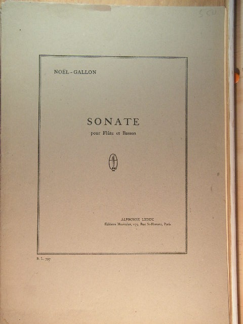 Image for Sonate for Flute and Bassoon