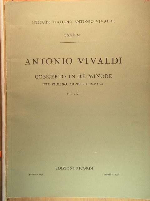 "Image for ""Violin Concerto in D-minor F I, No. 21"""