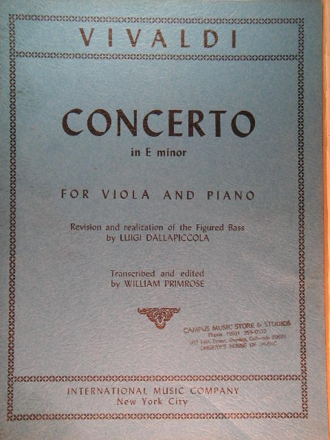 Image for Viola Concerto in E-minor
