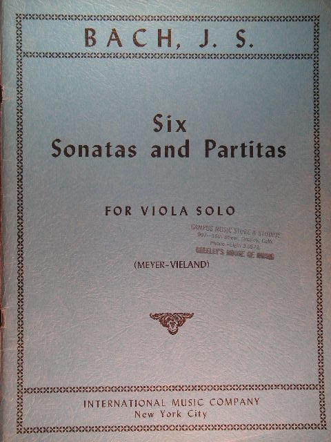 Image for Six Sonatas and Partitas for Viola Solo