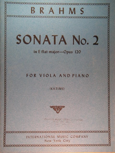 Image for Sonata [for Viola] No. 2 in E-flat major Op. 120