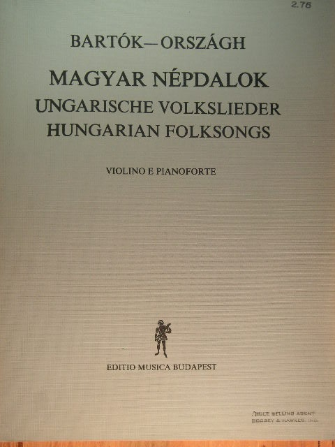 Image for Magyar Nepdalok (Hungarian Folksongs)