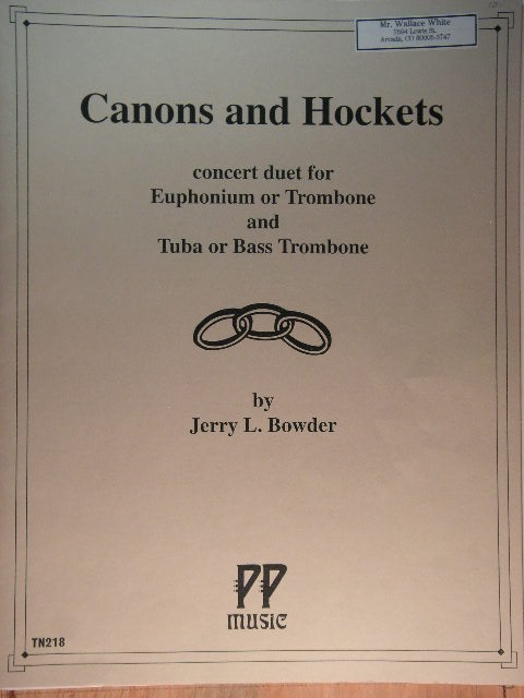 Image for Canons and Hockets