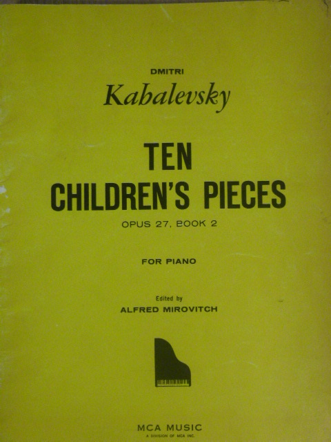 Image for 10 Children's Pieces Op. 27 Book 2