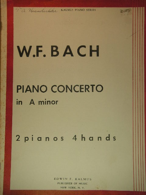 Image for Piano Concerto in A minor