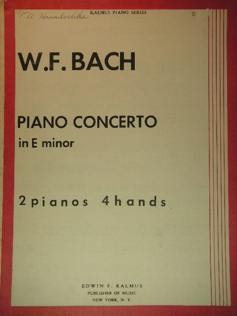 Image for Piano Concerto in E minor