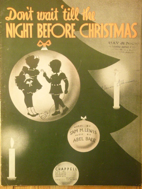 Image for (Don't Wait 'Till) The Night Before Christmas