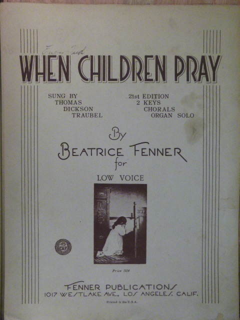 Image for When Children Pray