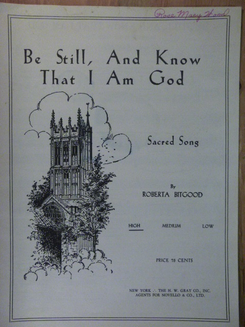 "Image for ""Be Still, And Know That I Am God"""