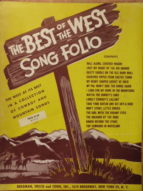 Image for ALBUM: The Best of the West Song Folio