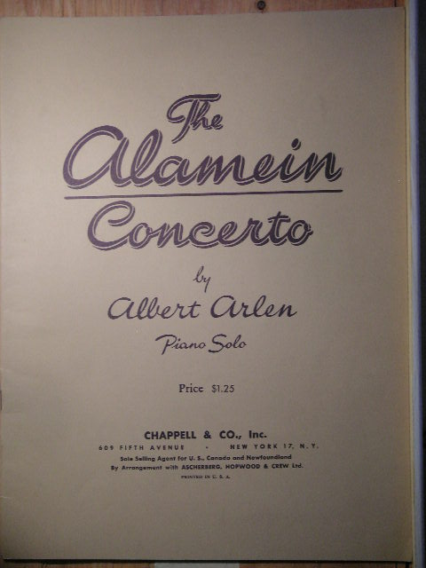 Image for The Alamein Concerto