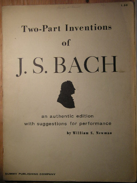 Image for Two-Part Inventions of J.S. Bach