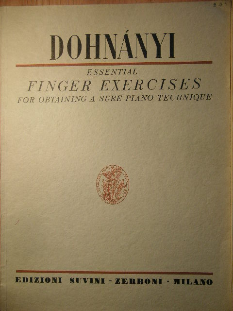 Image for Essential Finger Exercises