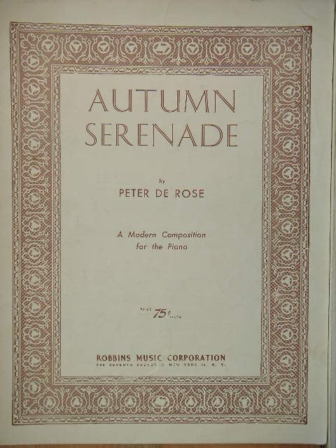 Image for Autumn Serenade