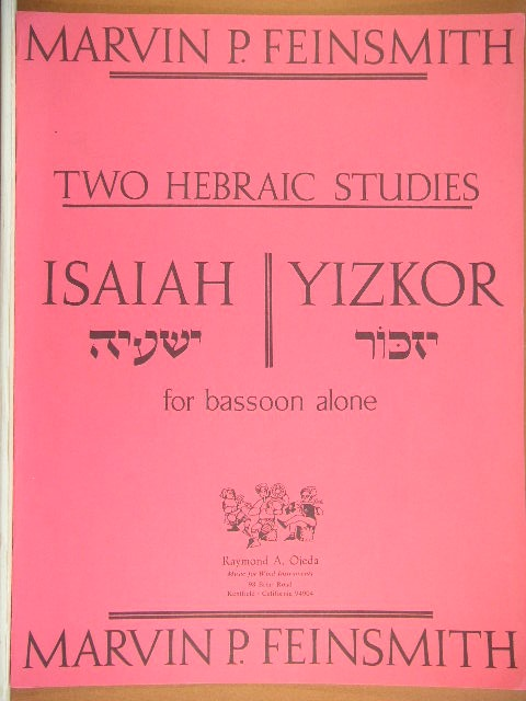 Image for Two Hebraic Studies: Isaiah / Yizkor