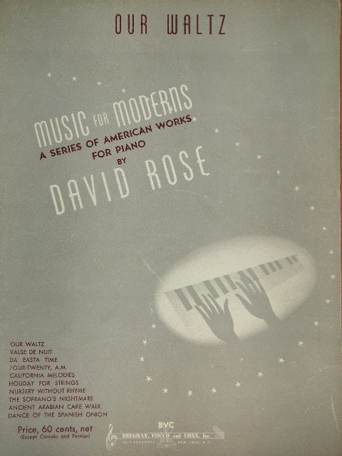 Image for Collection of Three  Pieces by David Rose