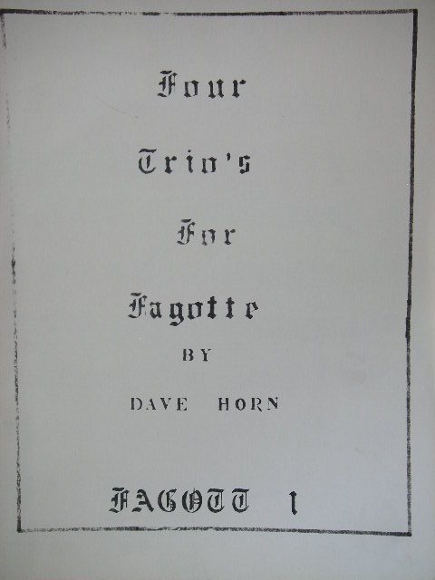 Image for Four Trio's for Fagotte