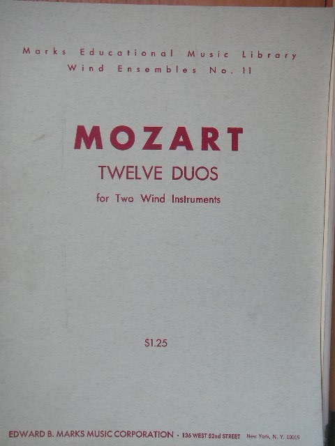 Image for Twelve Duos for Two Wind Instruments