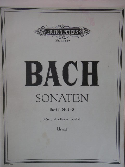 Image for ALBUM: Bach Sonatas Nos. 1-3