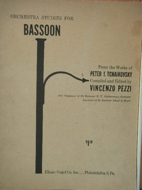 Image for Orchestra Studies for Bassoon