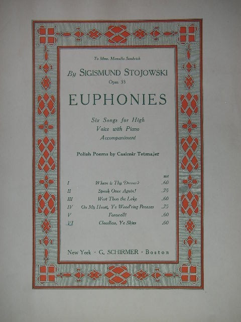 Image for Euphonies (6) Op. 33