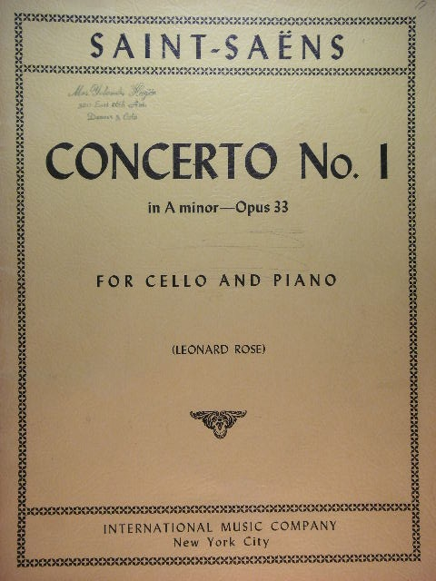 Image for Concerto No. 1 for Cello Op. 33