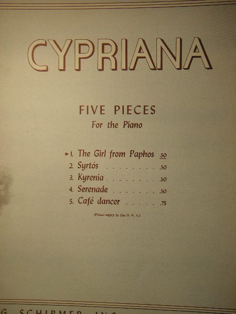 Image for Cypriana (5 pieces/complete)
