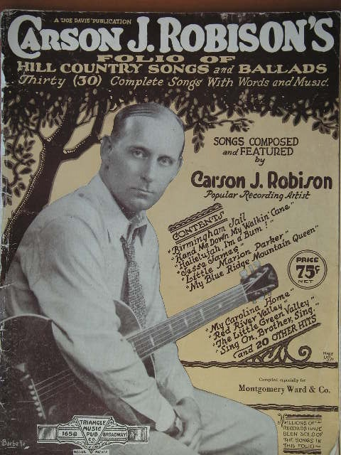 Image for ALBUM: Carson J. Robison's Folio of Hill Country Songs and Ballads