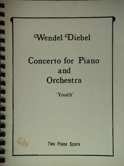 Image for Concerto or Piano and Orchestra 'Youth'